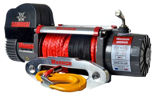 Samurai 8000 Electric Winch - Synthetic