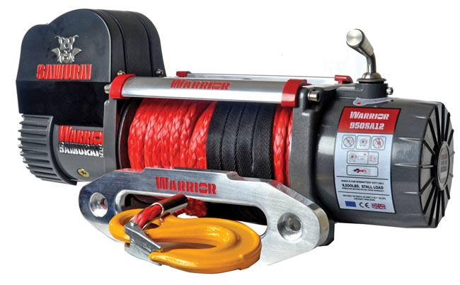Samurai 9500 High Speed Electric Winch - Synthetic