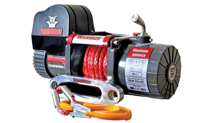 Samurai 9500 Short Drum Electric Winch - Synthetic