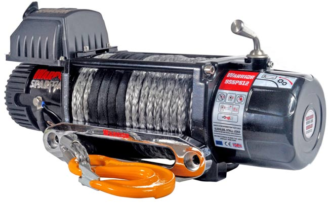 Spartan 9500 Electric Winch - Synthetic
